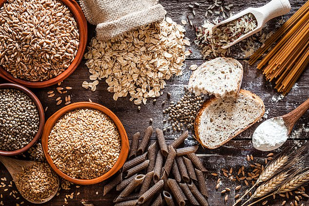 """Eat more wholegrain sources of carbohydrates. Things like, wholemeal or seeded fresh bread, oats, brown rice, quinoa and sweet potatoes.¿"