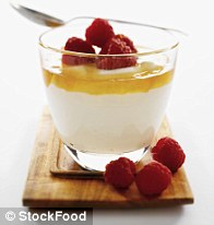 Treat yourself to a yoghurt dessert with honey and berries