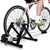 Sportneer Bike Trainer Stand Steel Bicycle Exercise Magnetic Stand with Noise Reduction Wheel,…