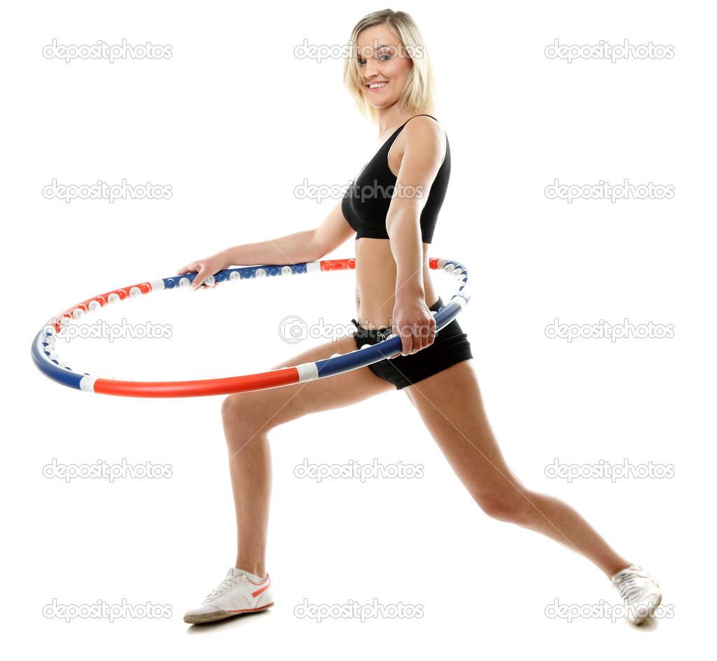 упражнения для похудения живота обруч