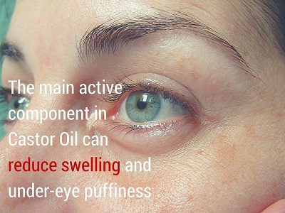 castor oil for eye puffiness