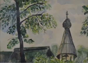 Успенская деревяная церковь. Сафронова